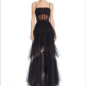 BCBG MAXAZRIA Tulle Corset Essential Gown